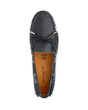 Daria Leather Loafer in Navy, Loafers, Walnut, Milu James St