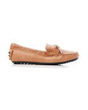 Daria Leather Loafer in Tan, Loafers, Walnut, Milu James St