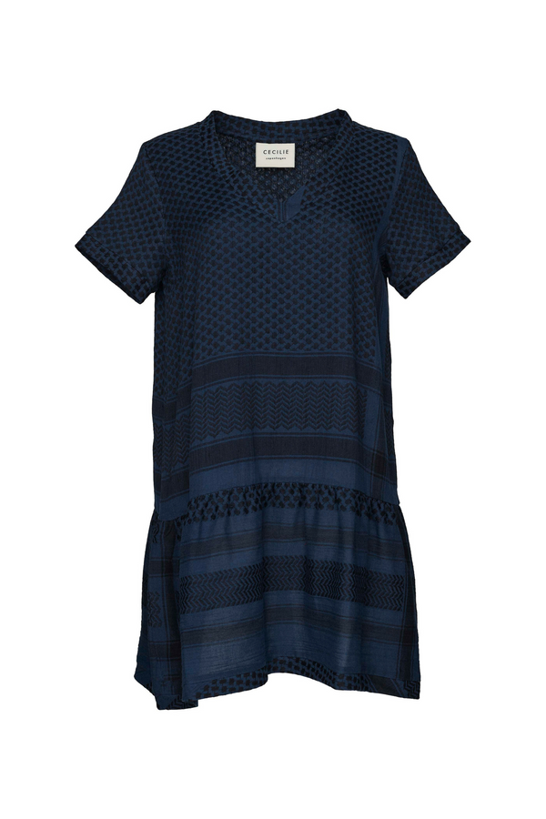 Dress 2, V, Short sleeves, Insignia Blue/Black