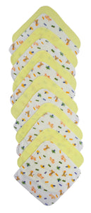 Twelve Piece Wash Cloth Set