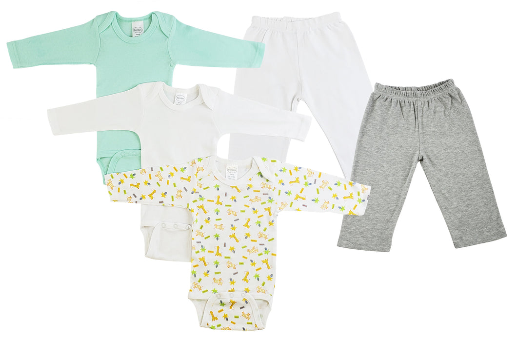 Infant Boys Long Sleeve Onezies And Track Sweatpants