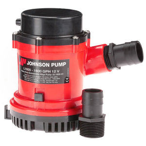 "Johnson Pump 1600 GPH Bilge Pump 1-1-8"" Hose 12V"