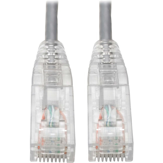 Tripp Lite Cat6 UTP Patch Cable (RJ45) - M-M, Gigabit, Snagless, Molded, Slim, Gray, 8 in.