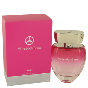 Mercedes Benz Rose by Mercedes Benz Eau De Toilette Spray 3 oz for Women