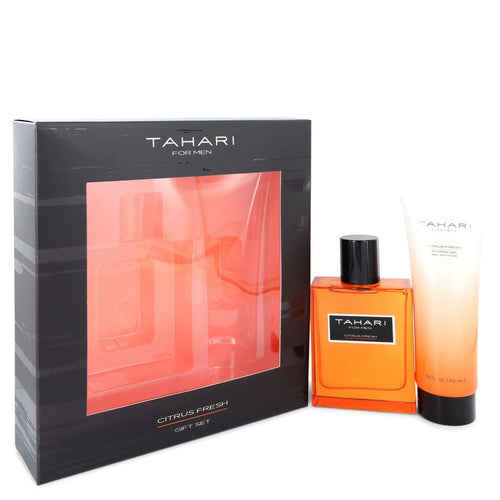 Tahari Citrus Fresh by Tahari Gift Set -- 3.4 oz Eau De Toilette Spray + 3.4 oz Shower Gel for Men