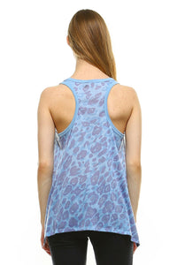 Women's Animal Print Jersey Tank Top