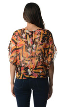 Load image into Gallery viewer, Women's Printed Chiffon Tie Front Top