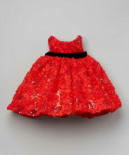 Load image into Gallery viewer, Infant Flower Sequin Party Dress