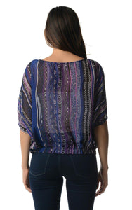 Women's Printed Chiffon Top