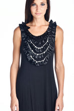 Load image into Gallery viewer, Women's Pearl Neck Trim Tank Dress