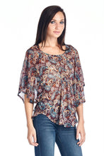 Load image into Gallery viewer, Women's Printed Chiffon Blouse