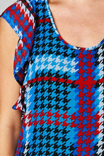 Load image into Gallery viewer, Women's Printed Chiffon Houndstooth Dress