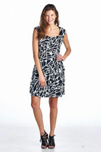 Load image into Gallery viewer, Women's Abstract Printed Drape Dress
