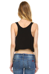 Women's Solid Color Loose Crop Tank