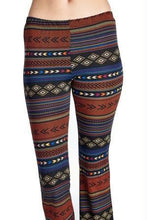 Load image into Gallery viewer, Women's Geo Stripe Flare Pants