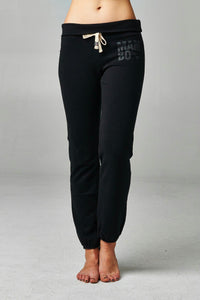Women's Fold-over Waistband French Terry Screened Sweatpants