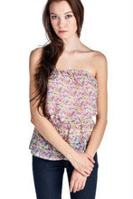 Load image into Gallery viewer, Women's Floral Printed Strapless Top