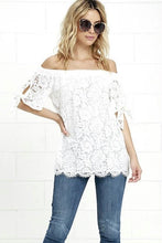 Load image into Gallery viewer, Women's Off shoulder Lace Top