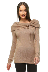 Women's Off Shoulder Knit Sweater