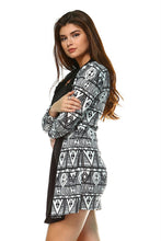 Load image into Gallery viewer, Women's Printed Dress with Attached Front Slip