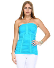 Load image into Gallery viewer, Women's Textured Knit Stretch Tube Top