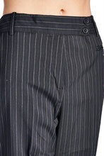 Load image into Gallery viewer, Larry Levine Black/White Pinstripe Pants
