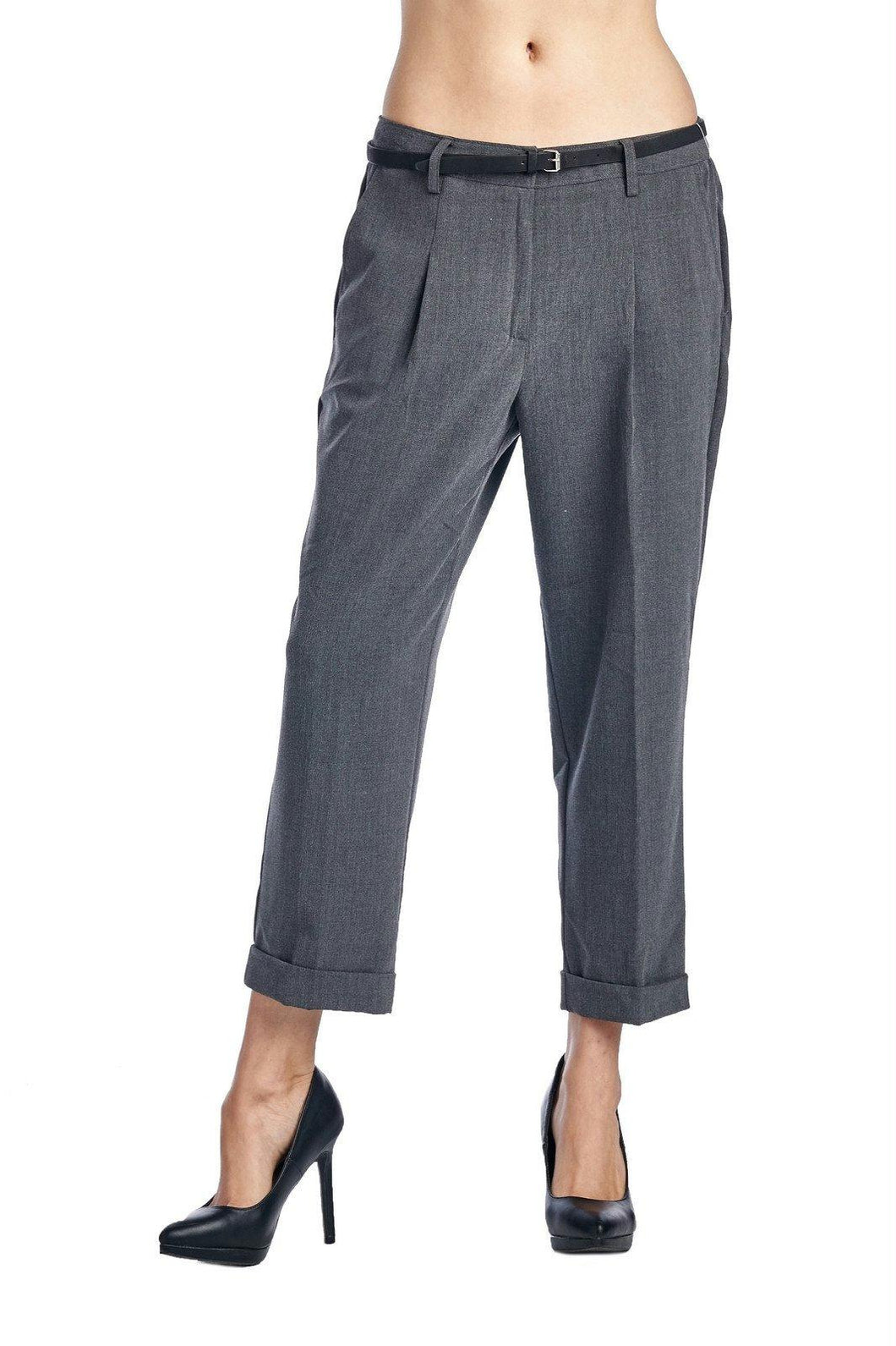 Larry Levine Stretch Pleated Trousers
