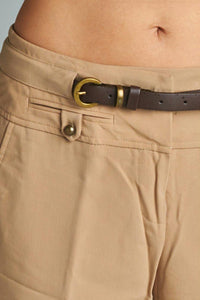 Larry Levine Stretch Capris with Belt
