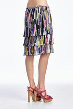 Load image into Gallery viewer, Larry Levine Layered Pleated Skirt