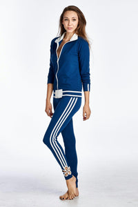 Women's Stripe Sleeve Active Jacket