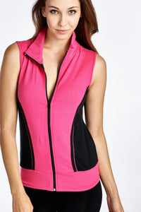 Women's Color Block Active Vest Jacket