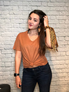 Cassie Basic Comfy Pocket Tee - brookesshop