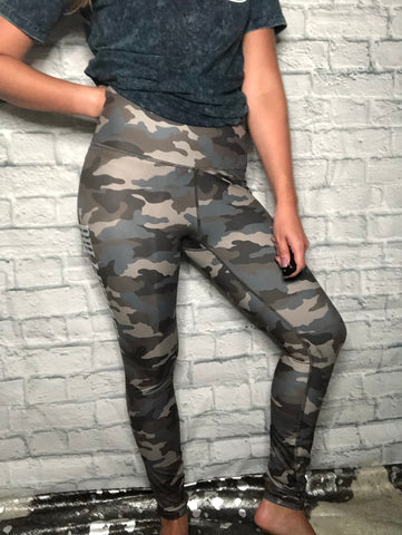 Bullheaded Camo Leggings - brookesshop