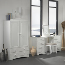 Load image into Gallery viewer, Scandi 2 Door 2 Drawer Combi Wardrobe in White