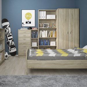 4 You Tall Narrow Bookcase in Sonama Oak