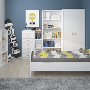 4 You Low wide Bookcase in Pearl White
