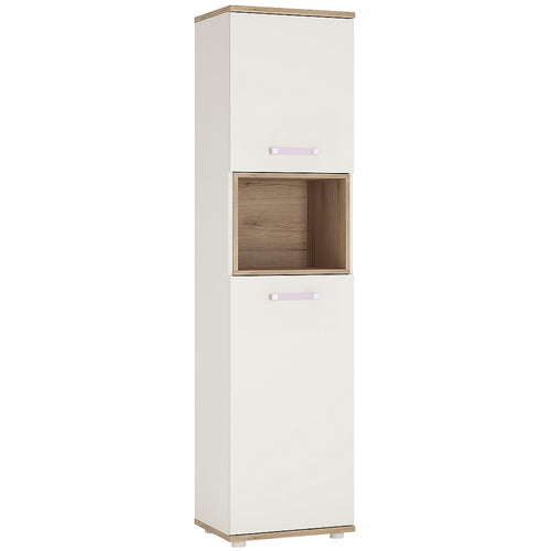 4KIDS Tall 2 door cabinet with lilac handles