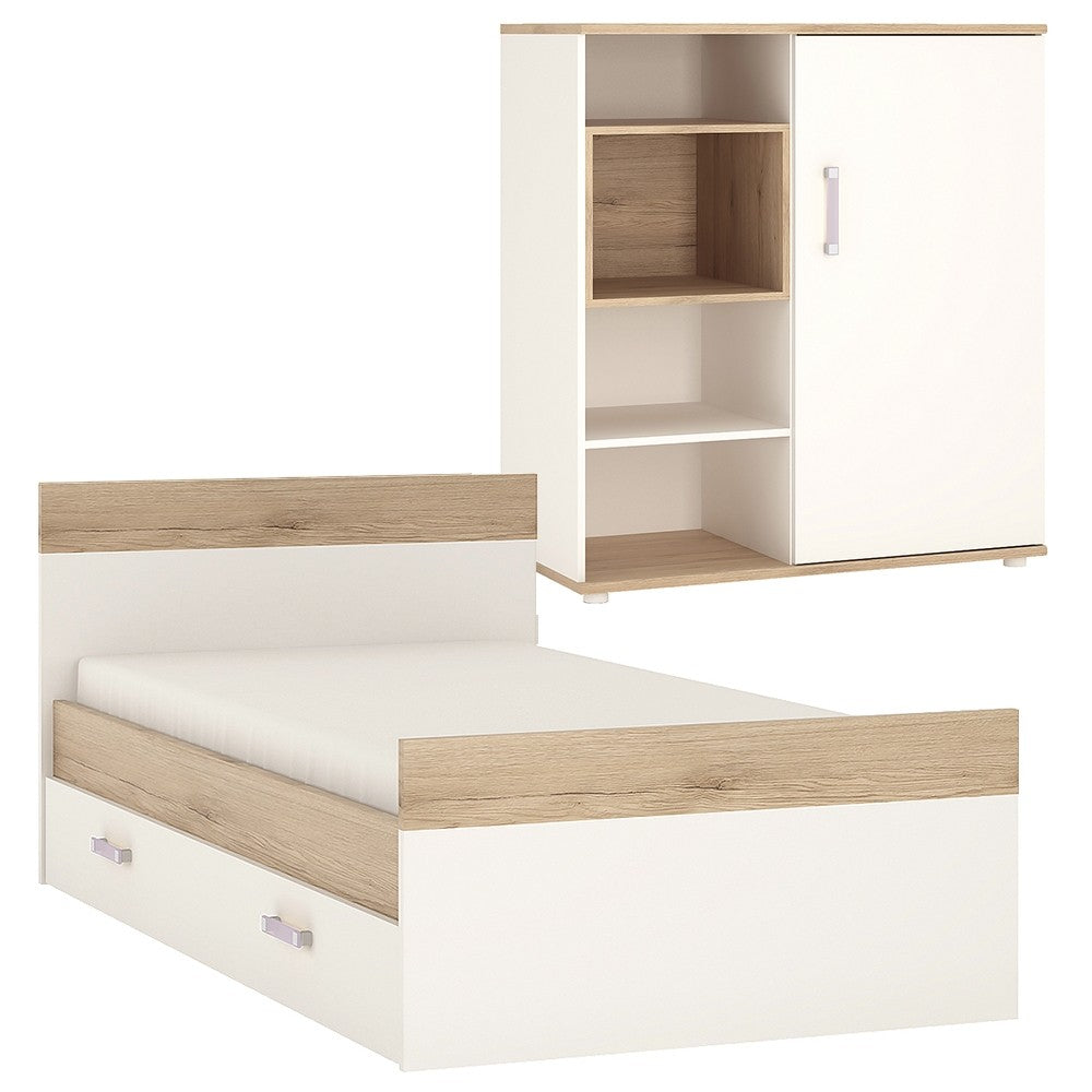 4KIDS Single Bed with under drawer and low cabinet (lilac package) - 4059040 + 4053040 + 1609000