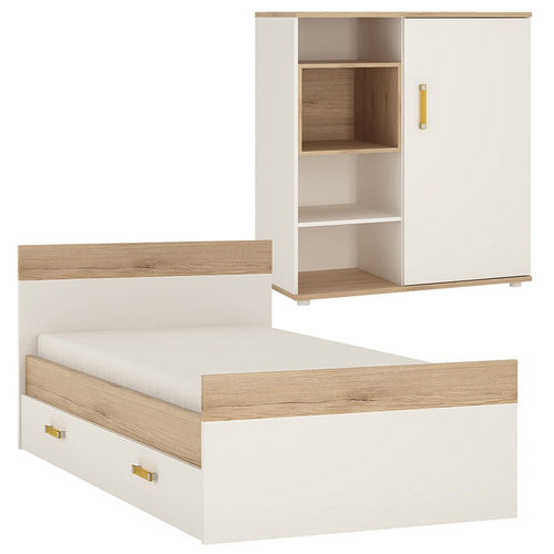 4KIDS Single Bed with under drawer and low cabinet (orange package) - 4059044P + 4053044P + 1609000