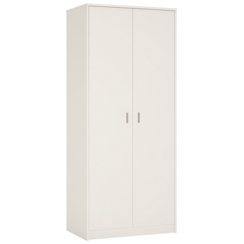 4 You 2 door wardrobe in Pearl White