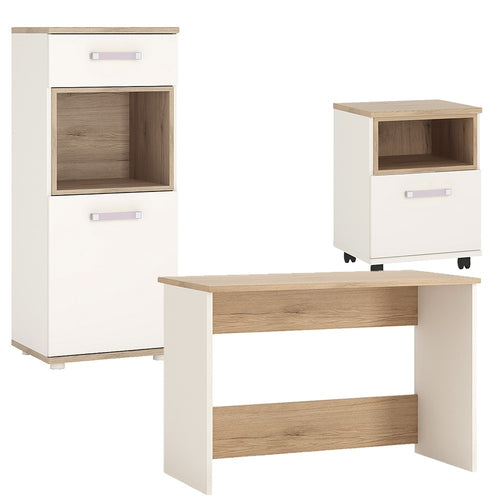 4KIDS Desk with mobile and narrow cabinet (lilac package) - 4058540 + 4058144P + 4053340