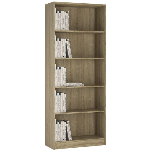 4 You Tall Wide Bookcase in Sonama Oak