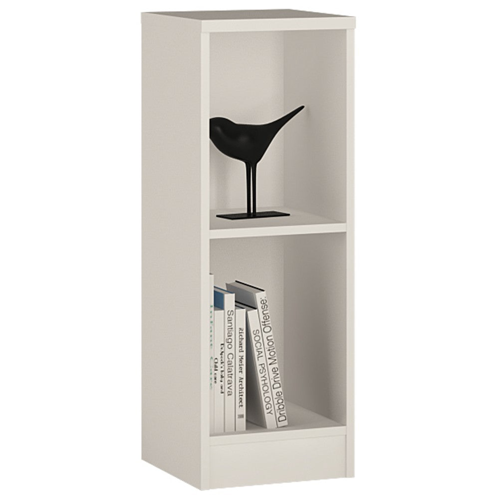 4 You Low Narrow Bookcase in Pearl White