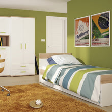 Load image into Gallery viewer, 4KIDS Single Bed with under drawer and low cabinet (lemon package) - 4059041 + 4053041 + 1609000