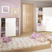 Load image into Gallery viewer, 4KIDS Single bed with under drawer with lilac handles