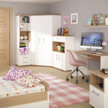 Load image into Gallery viewer, 4KIDS 2 door 1 drawer cupboard with open shelf with opalino handles