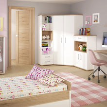 Load image into Gallery viewer, 4KIDS Corner Wardrobe with tall bookcase and cupboard (opalino package) - 4052139 + 4053139 + 4051139