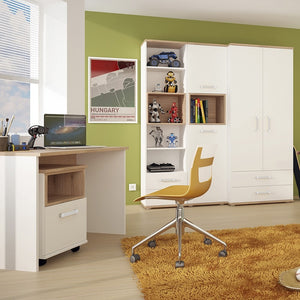 4KIDS Desk with mobile and narrow cabinet (opalino package) - 4058539 + 4058144P + 4053339