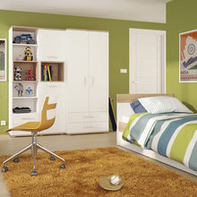 Load image into Gallery viewer, 4KIDS Single bed with under drawer with opalino handles