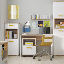 Load image into Gallery viewer, 4KIDS Desk in light oak and white high gloss